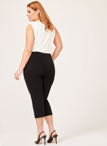 Pull-On Capri Pants , Black, hi-res