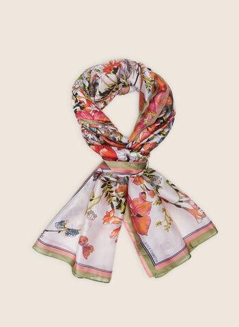 Vince Camuto - Foulard léger fleuri, Rose,  foulard, léger, fleurs, printemps été 2020