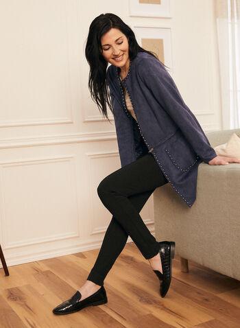 Pantalon pull-on étroit à détails coutures, Noir,  pantalon, pull-on, étroit, point de rome, coutures, poches, automne hiver 2020