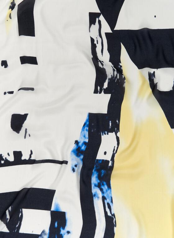 Foulard géométrique, Bleu, hi-res