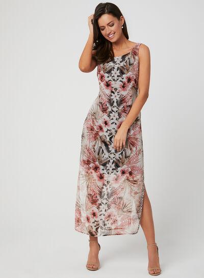 Floral & Animal Print Dress