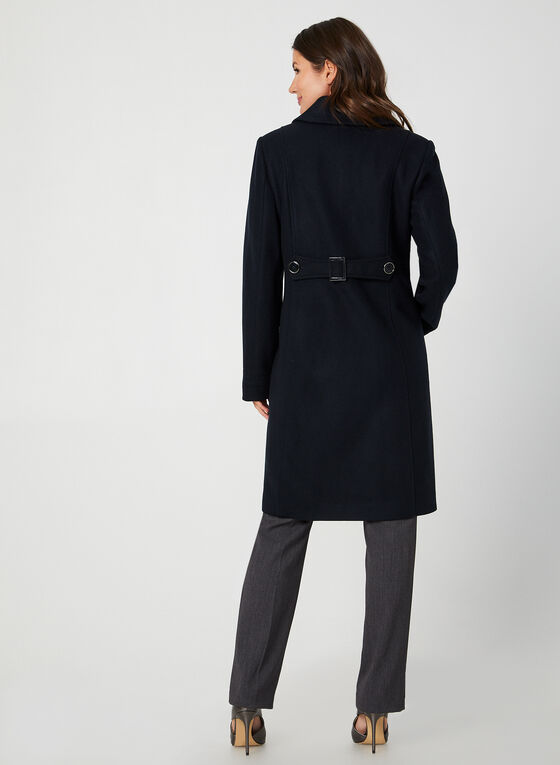 Wool-Blend Coat, Blue
