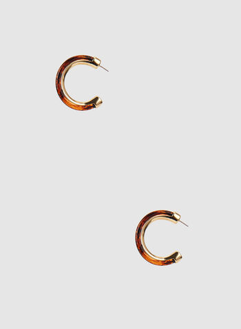 Open Hoop Earrings, Brown, hi-res,  open, hoops, earrings, two-toned, amber, fall 2019, winter