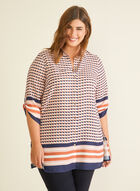 Abstract Print Crepe Blouse, Multi