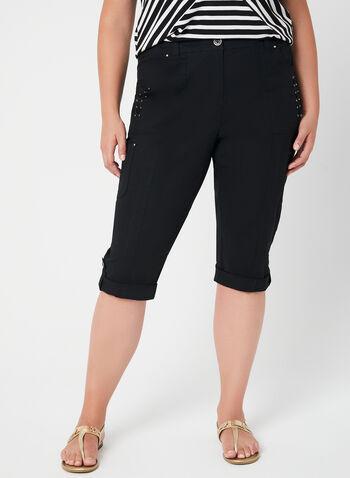 Modern Fit Capri Pants, Black, hi-res,  capri pants, Modern Fit, straight leg, cargo, spring 2019