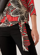 Graphic Floral Print Blouse, Red, hi-res