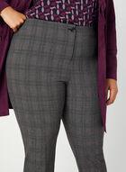 Pantalon motif Prince-de-Galles, Gris