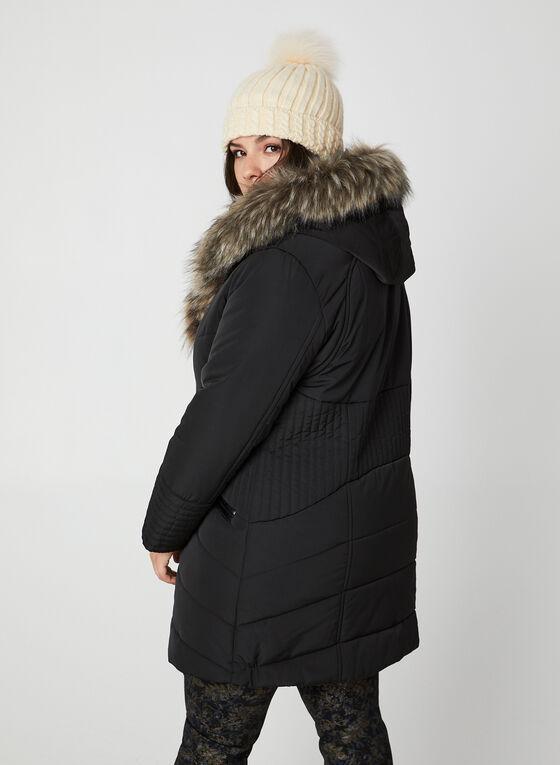 Northside - Manteau matelassé à détails similicuir, Noir, hi-res
