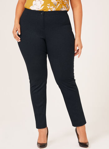 City Fit Straight Leg Pants, Blue, hi-res