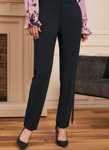 Louben - Pantalon coupe moderne à jambe droite, Bleu,  pantalon, costume, coupe moderne, jambe droite, poches, plis, fait au Canada, printemps ét 2021