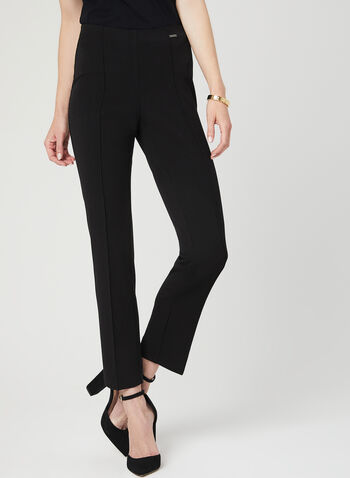 City Fit Mid Rise Pants, Black, hi-res