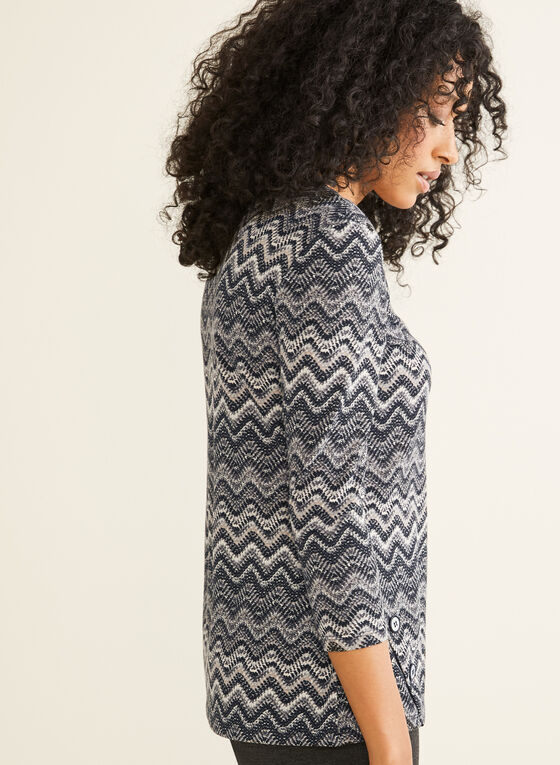 Missoni Stripe Print Top, Black