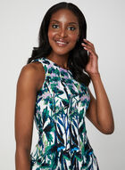 Floral Print Cotton Dress, Blue, hi-res