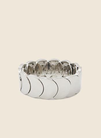 Bracelet extensible métallisé, Argent,  bracelet, extensible, métal, automne hiver 220