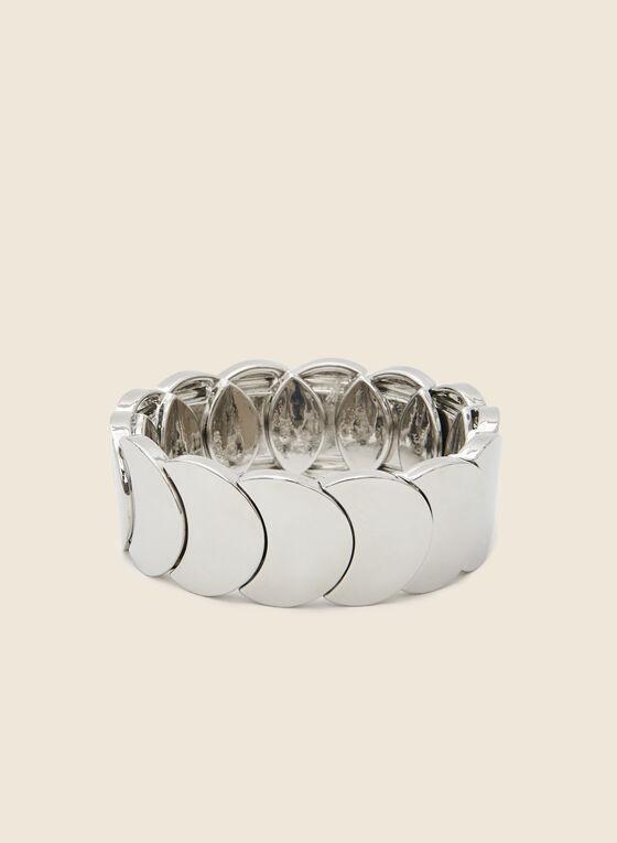 Bracelet extensible métallisé, Argent