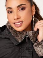 Weatherproof - Hooded Faux-Fur Trim Coat, Black, hi-res