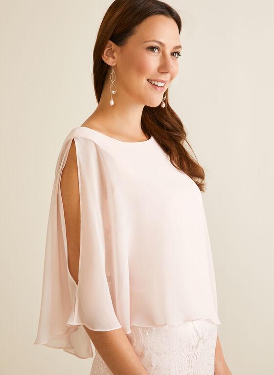 Asymmetric Poncho Cocktail Dress, Pink