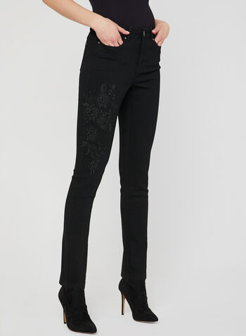 Signature Fit Slim Leg Jeans, Black, hi-res
