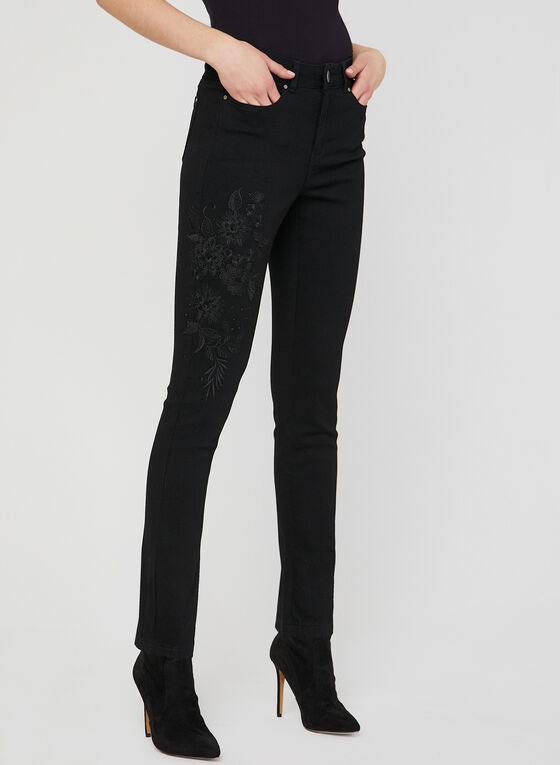 Signature Fit Slim Leg Jeans, Black, hi-res