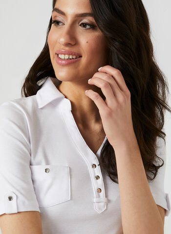 Polo T-Shirt, White, hi-res