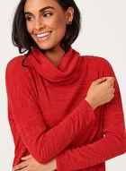 Linea Domani - Pull col roulé à effet drapé, Rouge, hi-res