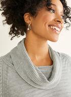 Cowl Neck Sweater, Grey