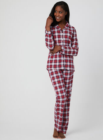 Midnight Maddie - Flannel Pyjama Set, Red, hi-res