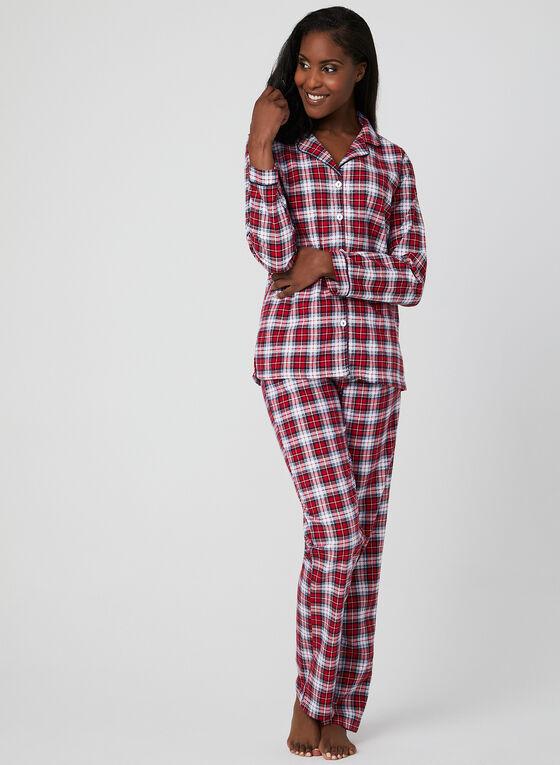Midnight Maddie - Flannel Pyjama Set, Red, hi-res