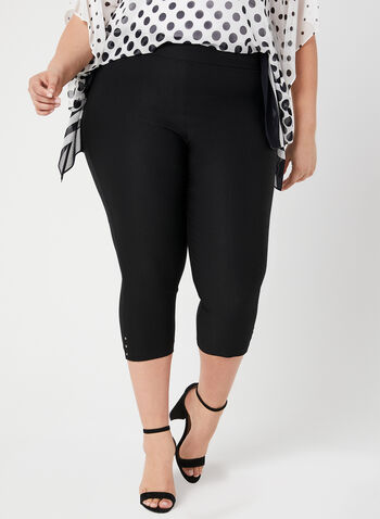 Straight Leg Capris, Black, hi-res