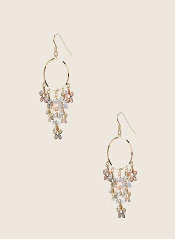 Boucles d'oreilles à anneau et fleurs, Multi,  boucles d'oreilles, anneau, fleurs, printemps été 2020