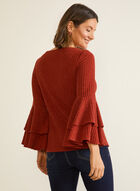 Double Ruffle Sleeve Top, Orange