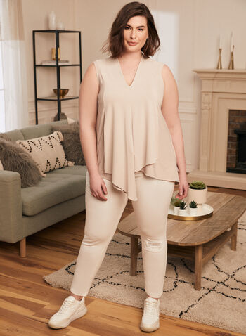 Joseph Ribkoff - Embellished Slim Leg Jeans, White,  jeans, denim, sequin, embellished,  ribkoff, lyman, rhinestones, distressed, pockets, stretchy, spring summer 2021