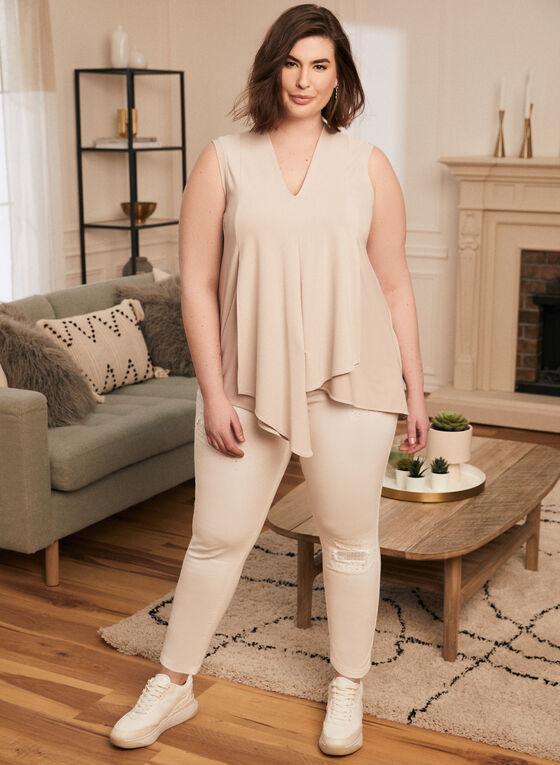 Joseph Ribkoff - Jeans étroit à strass, Blanc