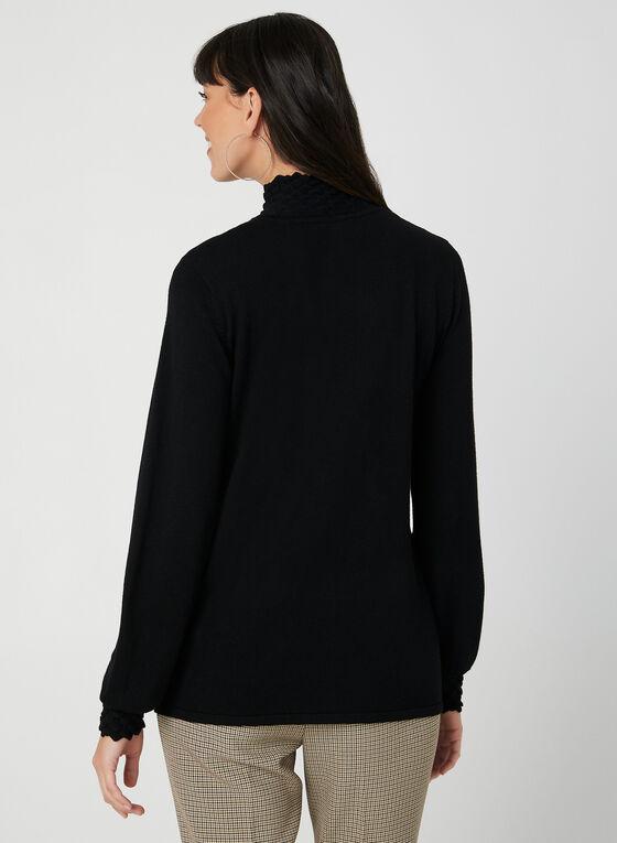 Pull en tricot à effet texturé, Noir