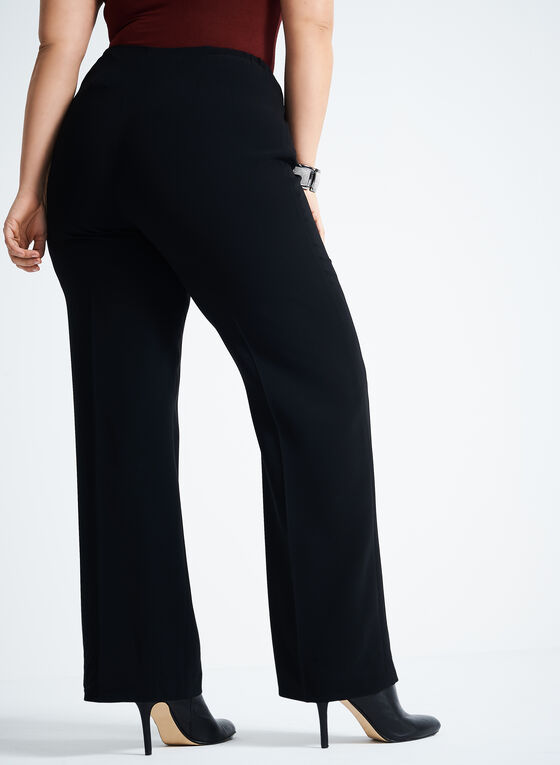 Louben - Modern Fit Straight Leg Pants, Black, hi-res