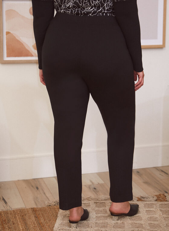Straight Leg Pants, Black