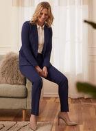 Louben - Straight Leg Pleated Pants, Blue