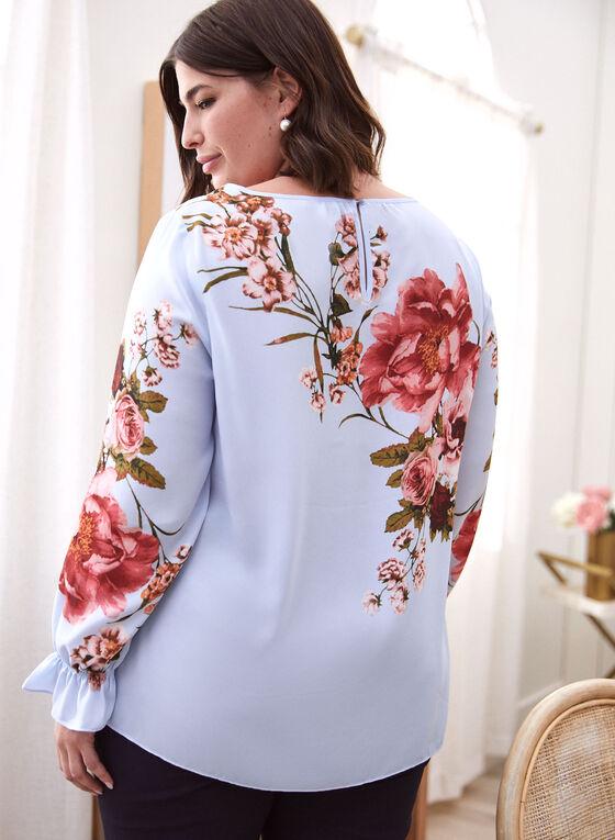 Floral Print Blouse, Blue