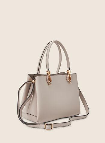 Large Satchel Handbag, Off White,  purse, hangbag, bag, satchel, faux leather, spring 2020, summer 2020, zipper
