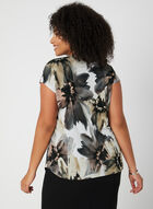 Floral Print Blouse, Grey, hi-res