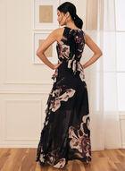Floral Print Cleo Neck Dress, Blue