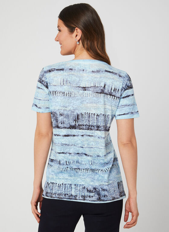 Watercolour Burnout T-Shirt, Blue, hi-res