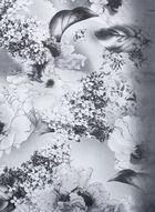 Foulard oblong à motif de fleurs et feuilles, Gris, hi-res