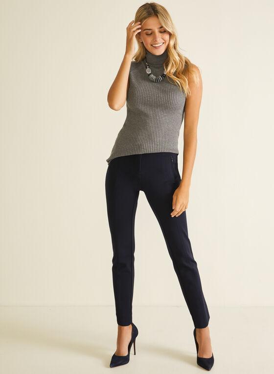 Sleeveless Turtleneck Sweater, Grey