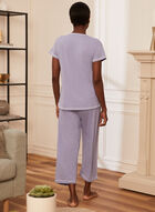 Heart Detail Pyjama Set, Purple