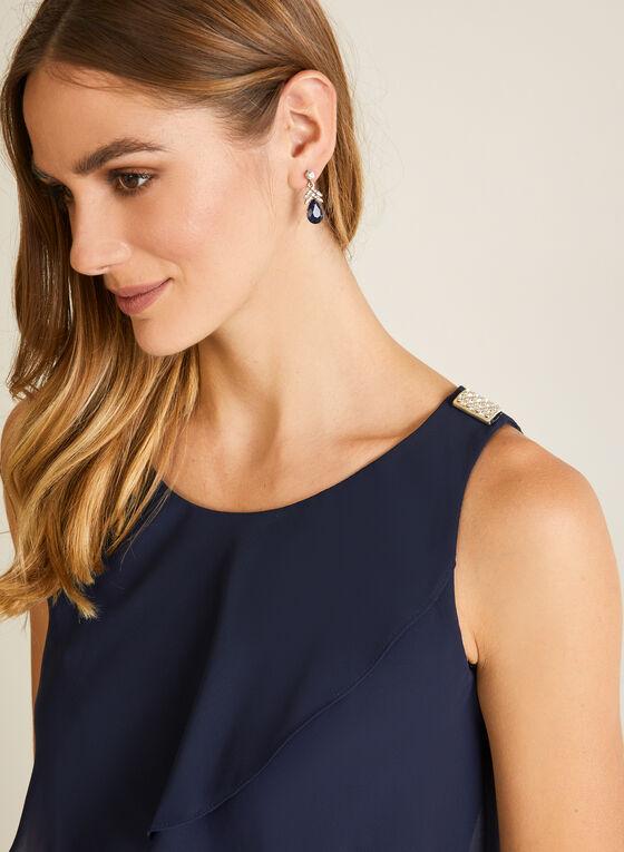 Sleeveless Ruffle Dress, Blue