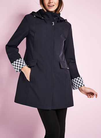 Novelti Stretch Gab A-Line Coat, , hi-res