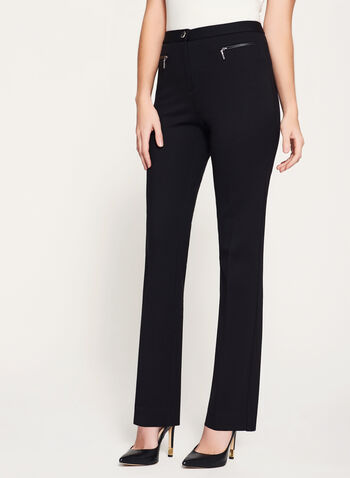 Signature Fit Ponte Straight Leg Pants, , hi-res