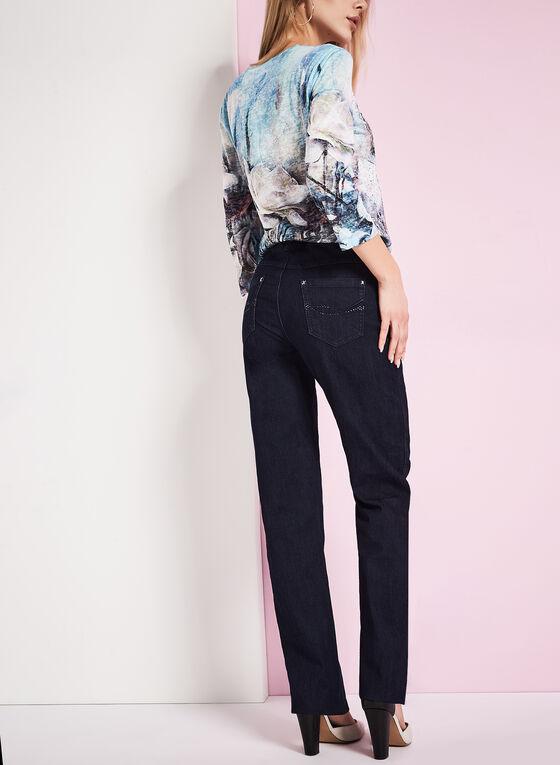 Simon Chang - Straight Leg Jeans, Blue, hi-res