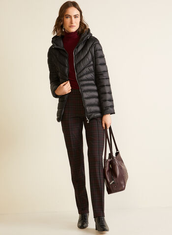 Bernardo - Chevron-Quilted Packable Coat, Black,  fall winter 2020, coat, quilted, Bernardo, packable, high collar, zipper, pockets